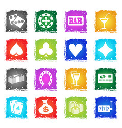 casino simply icons vector image