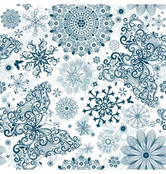 Christmas white seamless patter vector image