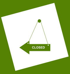 Closed sign white icon vector