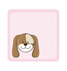 Colorful greeting card with picture dog animal vector