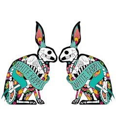 Colorfull rabbits vector image vector image