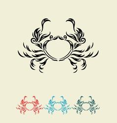Crab decor vector image vector image