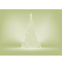 Elegant christmas tree card EPS 8 vector image