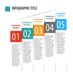 Flat vertical infographics options banner set vector