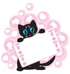 funny kitten vector image vector image