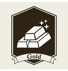 Gold bullion design vector