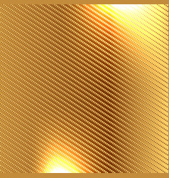 Golden carbon fiber kevlar texture background vector