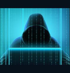 Hacker code realistic composition vector