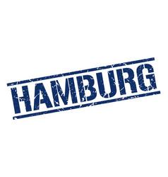 Hamburg blue square stamp vector