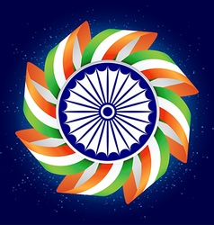 Happy independence day of india 15th august vector