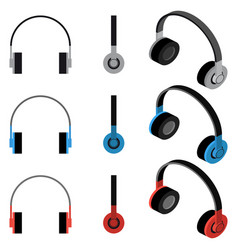 Headphones set vector
