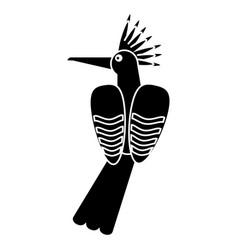 hoopoe bird exotic pictogram vector image