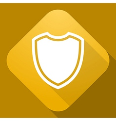 icon of Shield with a long shadow vector image vector image