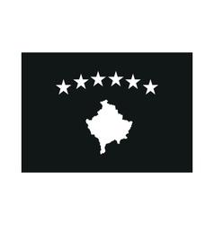 Kosovo Flag monochrome on white background vector image