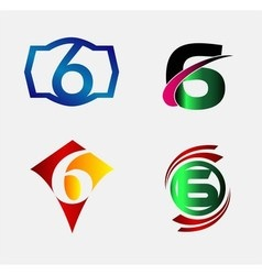 Number logo design number six logo logo 6 vector