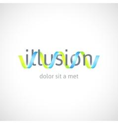 Optical concept abstract logo template vector