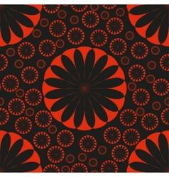 Orange Flower Seamless Pattern Bright vector image