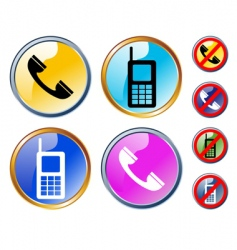 phones icons vector image