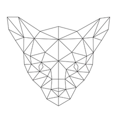 polygonal cat silhouette vector image vector image