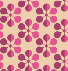 Retro fold purple six pedal flowers vector