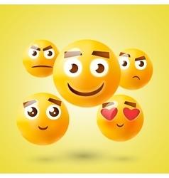 Set of Emoticons Set of Emoji Smile icons vector image