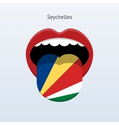 Seychelles language Abstract human tongue vector image vector image