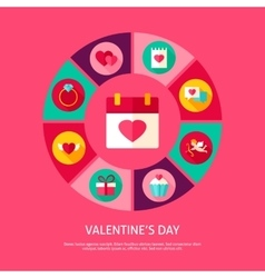 Valentines day concept vector