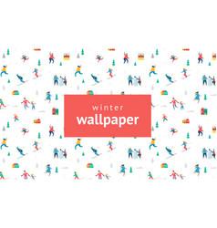 winter holidays wllpaper vector image
