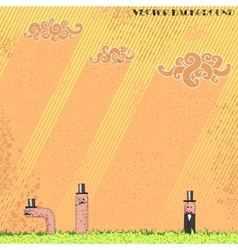 Worm background vector image