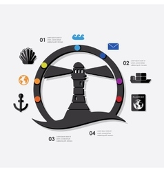 Maritime trucking infographic vector