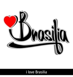 Brasilia greetings hand lettering calligraphy vector