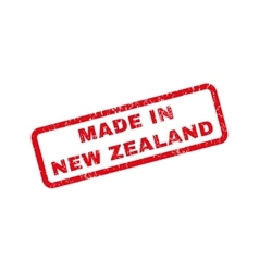 Made in new zealand rubber stamp vector