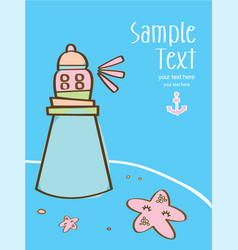 nice marine background in with cute starfis vector image