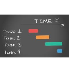 Timing plan vector image