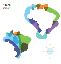 Abstract color map of brazil vector