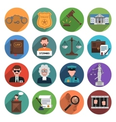 Law icon flat vector