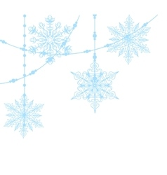 blue snowflakes isolated on white vector image