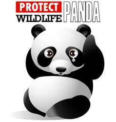 Protect wildlife - panda vector