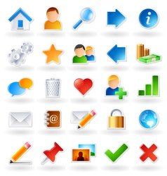 Web community icons vector