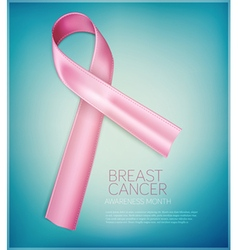 Pink ribbon breast cancer awareness month element vector