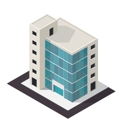 Isometric building icon vector