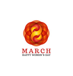 8 march happy women is day female greeting card vector