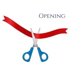 open - scissors and tape vector image