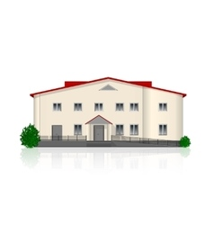 Separately standing office building vector