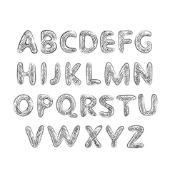 alphabet with texture vector image vector image