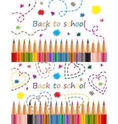 Back to school Colored pencils vector image