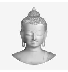 Buddha face vector