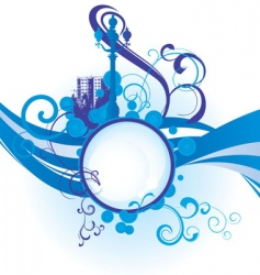 city waves image vector image vector image