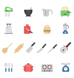Color icon set - kitchenware vector