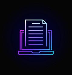 Colorful blogging icon vector